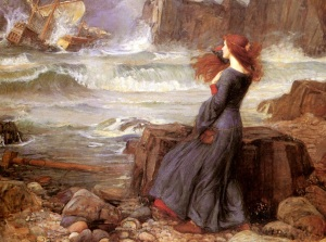 Miranda - The Tempest by Waterhouse