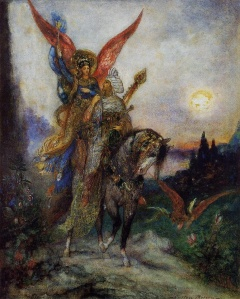The Arabian Poet by Gustave Moreau (1886) Because everything is frankly better with wings.