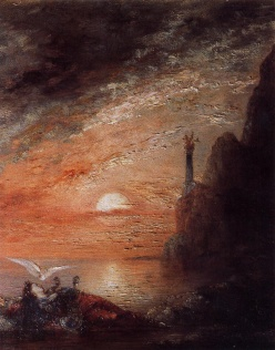 The Death of Sappho by Gustave Moreau (1876)