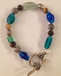 blue glass bracelet
