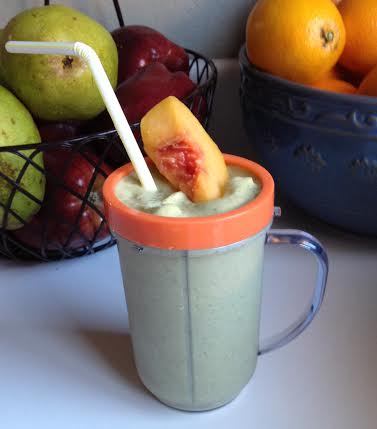 Moriah Densley's peach smoothie