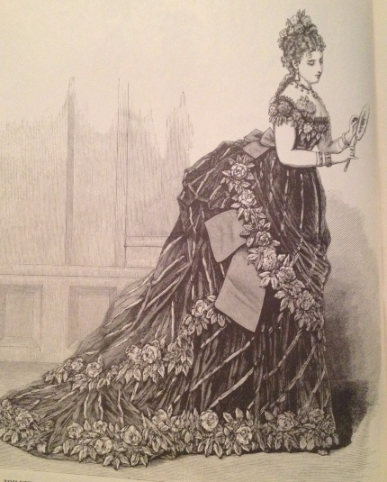 1873 evening gown