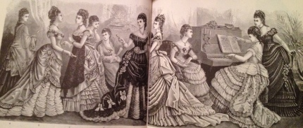 Ball & Evening Gowns, Harper's Bazar 1876