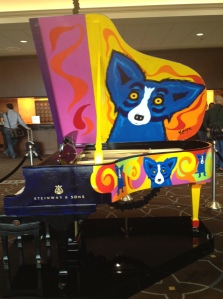 This creatively painted Steinway in the hotel hobby was our first NOLA experience.